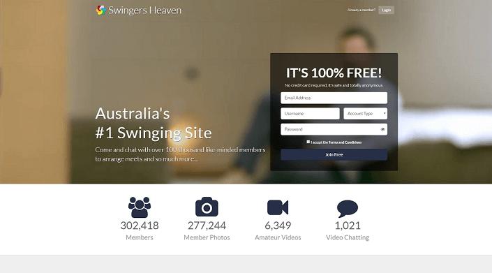 swingers heaven home page
