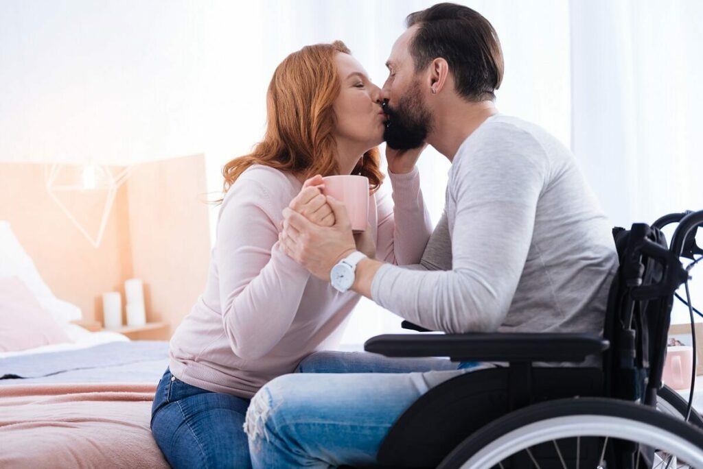 Happy couple met each other using disabled dating sites